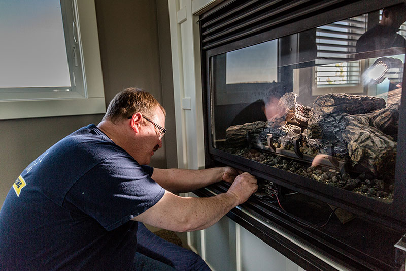 Fireplace gas line installations in Calgary