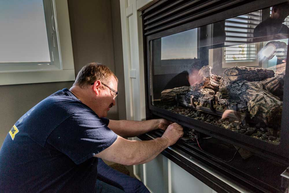 Fireplace gas line installation Calgary