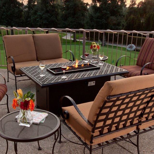 Fire Table on Patio