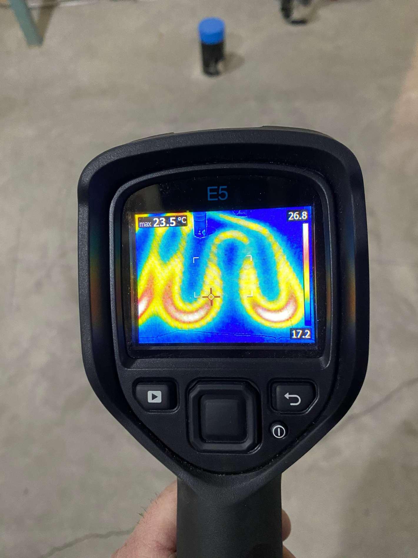 Heat Sensor Showing In-Floor Heating